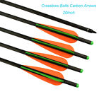 Carbon Crossbow Bolts Bio with 4-Inch Vanes Practice Arrows Hunting 20 inch