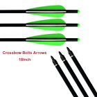 """Aluminum Shaft Archery Crossbow Bolts,  with 4"""" Plastic Vanes & Replaceable Tips"""