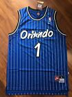 Anfernee Hardaway Orlando Magic Blue Striped Throwback Stitched Jersey All Size