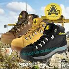 Amblers Work Safety Boots Hiker, Honey, Black, Gaucho Lo Profile Steel Toe Cap