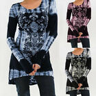 Women's Ladies Loose Long Sleeve Casual Blouse Shirt Tunic Tops Blouse Pullover