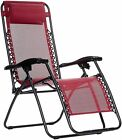 Zero Gravity Chair Sturdy Metal Frame Foldable Padded Head Rest Lounge Chair