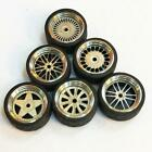 1/64 Scale Alloy Wheels - Custom Hot Wheels Matchbox Rubber Tires