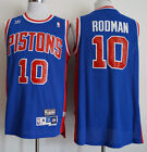 New Detroit Pistons #10 Dennis Rodman Basketball Jersey Mesh Blue Size:S -XXL on eBay