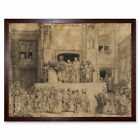 Rembrandt Christ Presented To The People Art Print Framed 12x16