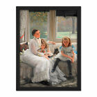 James Tissot Portrait Mrs Catherine Smith Gill And Children Large Framed Print