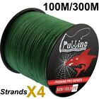 300m Super Fishing Line PE Spectra Braided Line 4/8 Strands Moss Green 6-100LB
