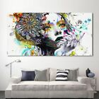 Modern Art Girl With FLowers Wall Pictures For Living Room Modular Canvas