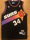 #34 Charles Barkley Phoenix Suns Black Vintage Throwback Swingman Mens Jersey on eBay