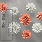 Ceramic Flower Peony Hydrangea 3D Wall Decor Hangings Room Study Wall Decoration