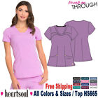 Heartsoul Scrubs Women's Medical Two Patch Pockets Contemporary V-Neck Top HS665
