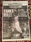 YANKEES BEAT METS 2000 SUBWAY SERIES DAILY NEWSPAPER EXCELLENT CONDITION