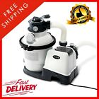 Krystal Clear Sand Filter Pump for Above Ground Pools 10-inch 110-120V with GFCI