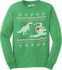 Dinosaur Snack Funny Ugly Christmas Sweater Long Sleeve Shirt