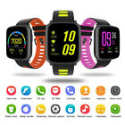 bluetooth Touch IP68 Smart Sport Watch SMS Heart Rate Monitor Anti-lost Remind