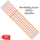 Archery Fiberglass Bowfishing Arrow Fishing Hunting Arrows w for Outdoor Hunting