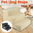 Pet Puppy Step 3 Steps Dog Cat Stairs Ladder Climb Ramp W/Cover for Couch or Bed