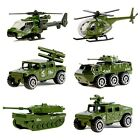 6 toys Military Vehicles ( Tank,Jeep,Panzer,Light anti-air vehicle,helicopte.