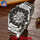 Luxury New Winner Men Skeleton Automatic Mechanical Watches Sport Wrist Watch US image