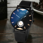 1-Men's Business Quartz Watches Artificial Leather Band Analogue Wrist Watch Hot