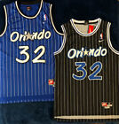 NWT Shaquille Shaq O'neal 32 Orlando Magic Black / Blue Throwback Jersey S - 2XL