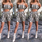 Lady Sexy Party Clubwear Bodycon Jumpsuits  Print  Top + Hot Short Set