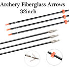 "32""Fiberglass Shaft Arrows, 1589 Grain Bowfishing Arrows for Compound & Recurve"