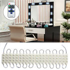 LED White Dressing Mirror Lighted Cosmetic Makeup Vanity LED Light Remote Power