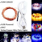 10M 100 LED USB 5V Fairy String Copper Wire Fairy Light Party Waterproof