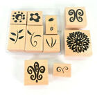Lot of 11 Flower and Leaf Rubber Stamps - Floral - Nature - NEVER USED!