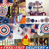 6pcs American Independence Day Home Party Decor Supplies Ribbon Wall Hanging Set