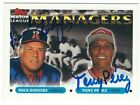 Autographed BUCK RODGERS & TONY PEREZ 1993 Topps  Card #503 - w/Show Ticket
