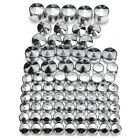 76Pcs ABS Screw Bolt Toppers Cap Cover Chrome For 91-13 Harley Davidson