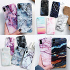 NEW Pastel Marble Pattern Cover Case Shockproof Soft For iPhone X 6 8 7 Plus