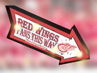 RETRO BUDWEISER BUDDMARQUEE JERSEY BEER BAR LIGHT BOX SIGN etroit Red Wings