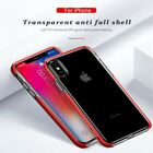 For i Phone XS Max 8 7 Silicone Frame Ultra Slim Clear Shockproof TPU Case Cover