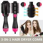 2In1 One Step Hair Dryer and Volumizer Brush Straightening Curling Iron Comb USA