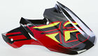 FLY RACING 73-4617 F2 CARBON SHORTY HELMET VISOR BLACK/RED/LIME
