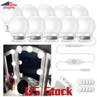 10Pcs Make Up Mirrors Cosmetic Lights LED Bulbs Lamp Waterproof With Sticker US