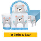 BEAR Party Range Boy Age 1/1st Birthday First Baby Shower Tableware Decorations