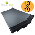 Grey Mailing Bags 13x19 50% Recycled Plastic M Self Seal Strong Postal Poly
