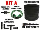 POROUS PIPE/SOAKER HOSE GAREN ESSENTIAL KIT WITH ACESSORIES AND CONNECTORS, UK