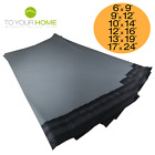 50 Grey Mailing Bags 50% Recycled Plastic Self Seal Strong Postal Poly