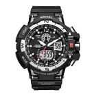 SMAEL Mens Military Digital LED Alarm Date Dual Time Tactical Shock Quartz Watch image
