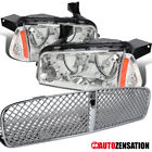 06-10 Dodge Charger Clear Headlights/ Corner Lamp Pair+Mesh Front Hood Grille $121.18 CAD on eBay