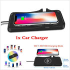 Qi Wireless Car Charger Silicone Pad Mount Holder For Samsung + iPhone X 8 8Plus