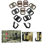 5pcs molle carabiner d locking ring plastic clip ring buckle carabiner keychaiWD