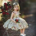 US Child Kids Baby Flower Girl Wedding Pageant Formal Party Tulle Dress Outfits
