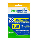 Lycamobile Prepaid Sim Card $23/$29/$35/$39 1 Month Unlimited Text Talk Data <br/> BEST PRICES ⭐ FREE SHIPPING WITH TRACKING ⭐ DISCOUNTS