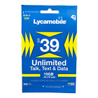 Lycamobile Prepaid Sim Card $23/$29/$35/$39 1 Month Unlimited Text Talk Data